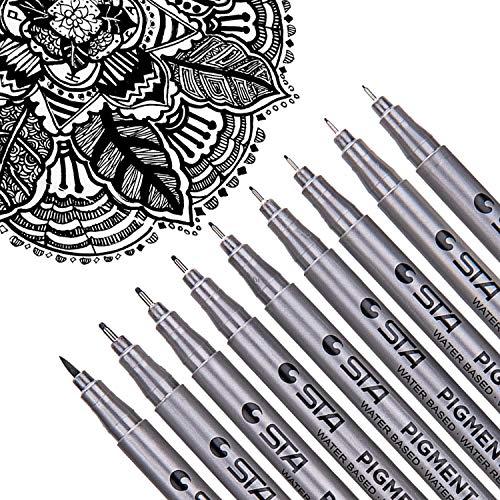 dyvicl negro micro-pen Fineliner bolígrafos de tinta–Micro punta fina y punta d…