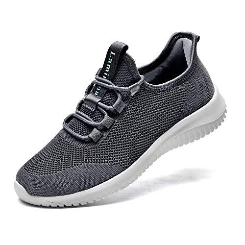 Lamincoa - Zapatillas deportivas para correr con cordones para mujer