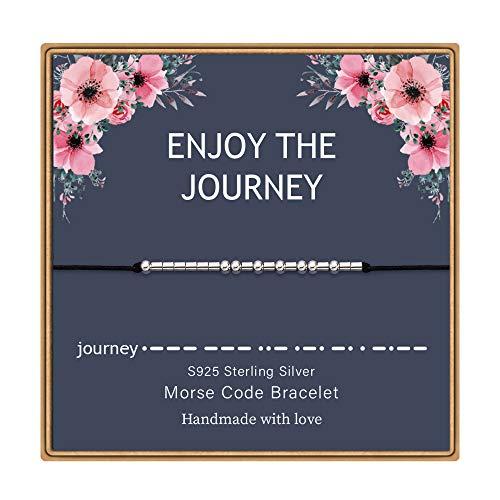 Monozo Morse Code Pulseras para mujer