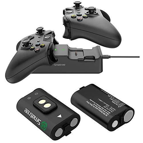 Smatree - Batería recargable con doble estación de carga compatible con mando inal…