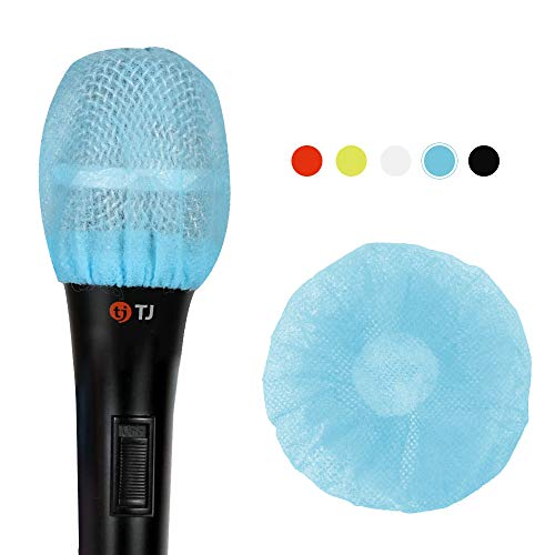 Teeker 200 piezas desechables micrófono cubierta no tejida micrófon…