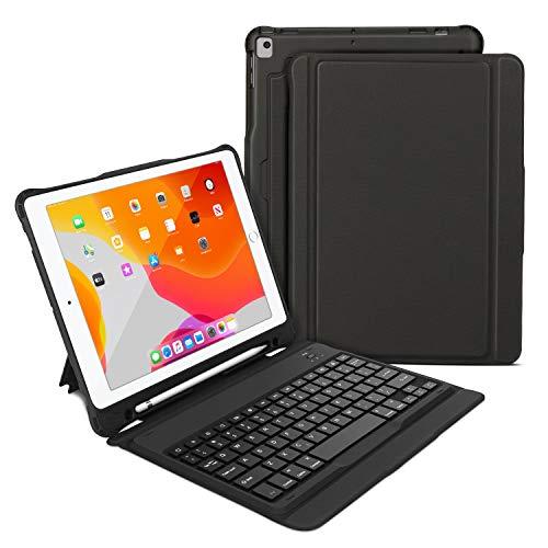 OMOTON - Funda para iPad 10.2 2019 con teclado Bluetooth ultrafino con sop…