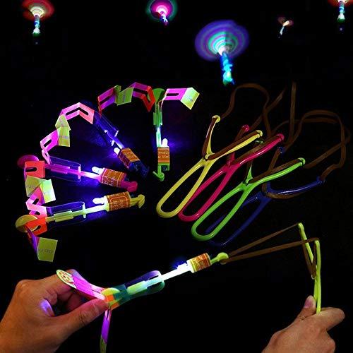 15 piezas de increíble luz LED flecha cohete helicóptero volando juguete fiesta dive…