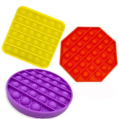 3 Push-Pull Bubble Fixed Sensory Toys