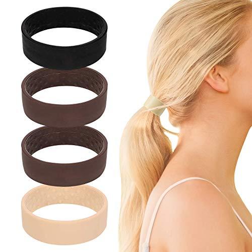 4 paquetes de corbata de silicona plegable para el pelo