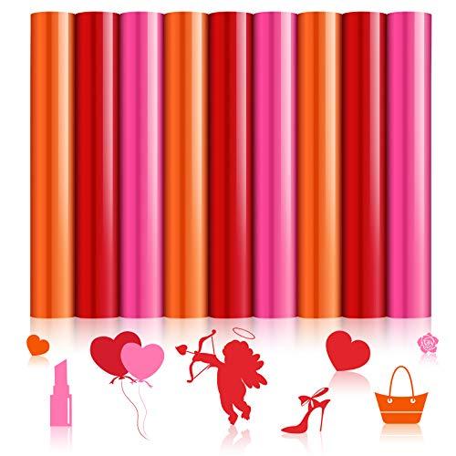 9 hojas de vinilo de transferencia de calor para el día de San Valentín