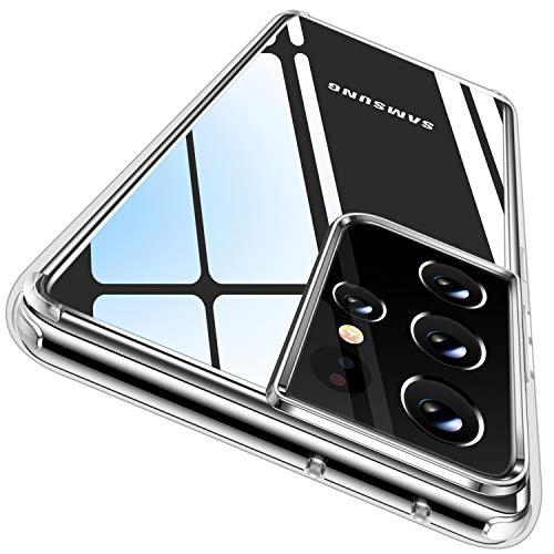CASEKOO - Carcasa transparente para Samsung Galaxy S21 Ultra (nunca a…