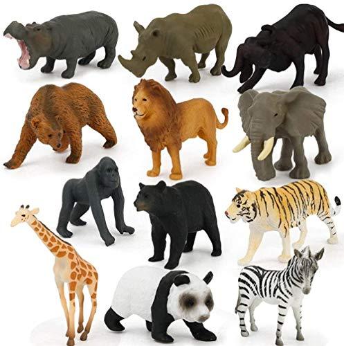 FlyCloud Animales Figuras Juguetes 12 Piezas