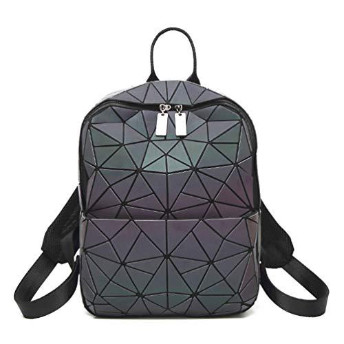 HotOne - Monedero y bolso geométrico luminoso holográfico con monedero…