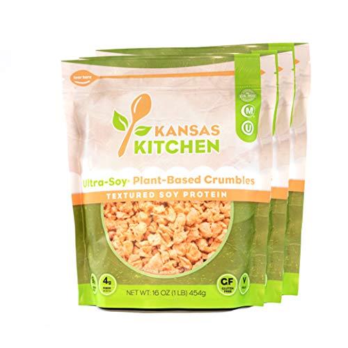 Kansas Kitchen – Ultra-Soy Plant-Based Crumbles – sin sabor