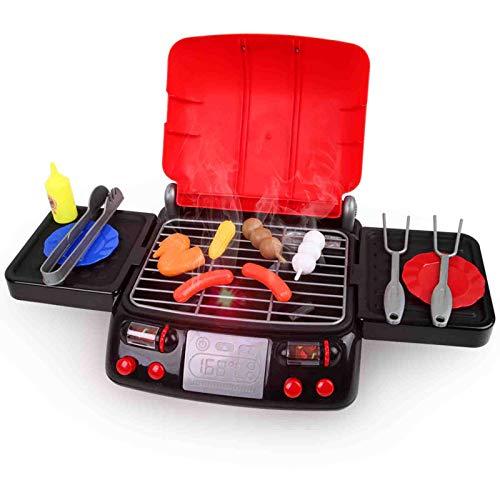 LBLA Pretend Play Food BBQ Playset Juguetes de cocina con luz y humo