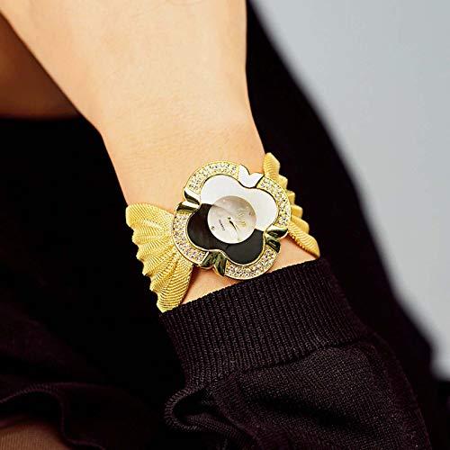 Reloj de pulsera de lujo brillante diamante mariposa malla correa señoras reloj d…