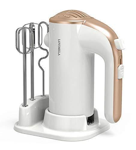 Mezclador de mano eléctrico ligero y potente para hornear pasteles de mano 5 velocid…