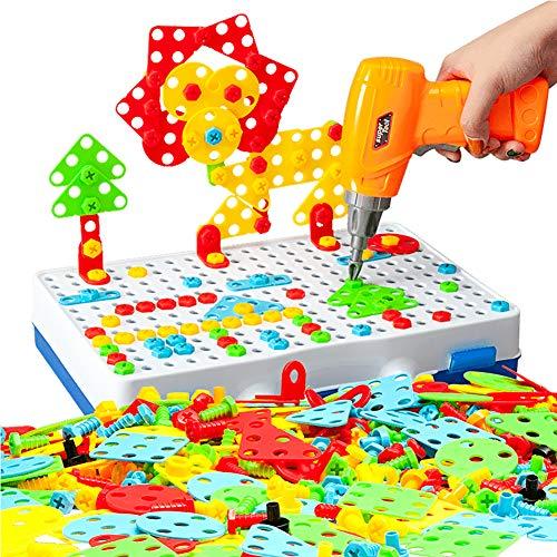 Moldes King 239 piezas de juguete de perforación para niños Mosaico Taladro Rom…