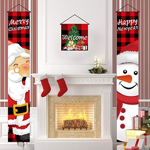 Nobie vívidas decoraciones de Navidad al aire libre