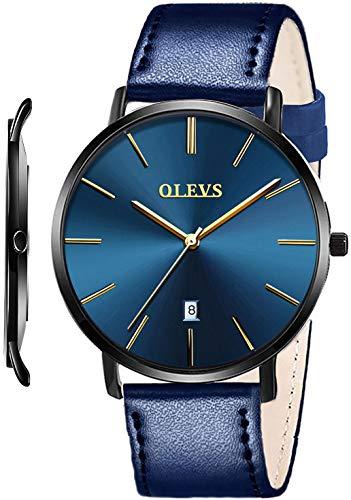 OLEVS - Reloj de pulsera para hombre minimalista y ultra fino de cuarzo analógico co…