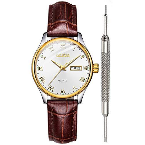 OLEVS - Reloj analógico de cuarzo para mujer
