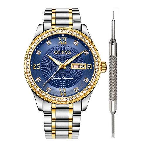 OLEVS relojes clásicos de lujo para hombres reloj calendario 2020 impermea…