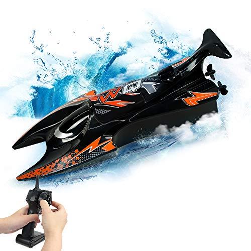 RC Boat Toy 2.4 Hz Control Remoto Barco de Velocidad Dual Motores Auto-derecha…