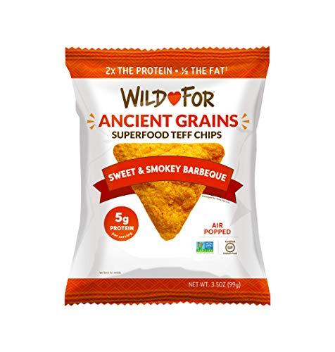 WILD FOR Tortilla Chips | Hecho con Teff un grano antiguo | Proteína alta veg…