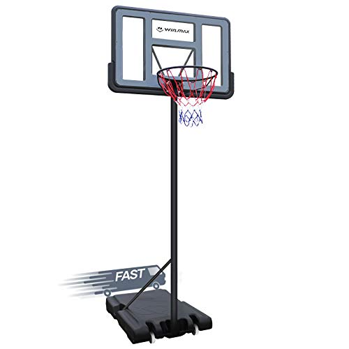 WIN.MAX - Sistema de portería portátil de baloncesto de 5 a 10 pies