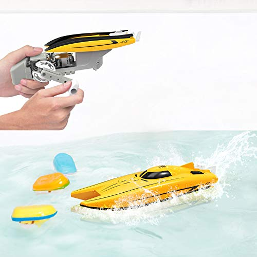 WomToy Bath Toys Toddler Bath Toys for Wind-up Power Generation Boat
